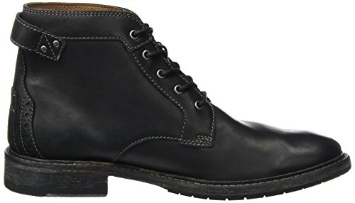 Negro Leather Botines Clarkdale Black para Bud Clarks Hombre q0EXx
