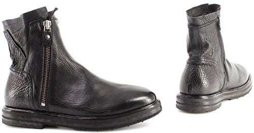 Zip Ruga Vintage Schwarz Stiefeletten Herren Nero MOMA Neu 69704 Schuhe Italy RA qwaSf0aXx