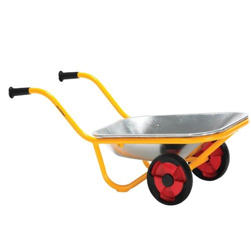 Constructive Playthings WIN-593 Heavy-Duty Steel Wheelbarrow, Two Wheel Design, kindergarten Grade to 3 Grade, 32'' H, 15'' L, 12.35'' W by Constructive Playthings