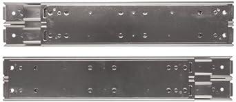 Sugatsune ESR-10 304 Stainless Steel Drawer Slide, Full Extension, Positive Stop (1 Pair)
