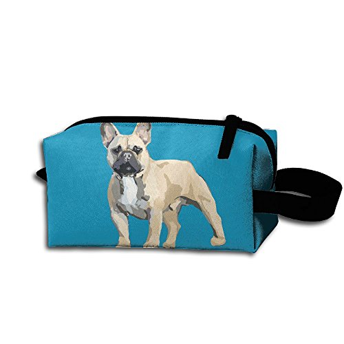 Unisex Frenchie French Bulldog Portable Buggy Bag Hanging Travel Bag Makeup Clutch Bag Multifunction Cosmetic Bags Travel Organizer Bag Storage Bag Pouch Multi ()