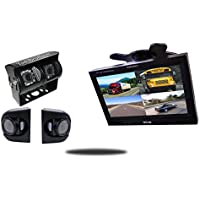 Tadibrothers 9 Inch Ultimate RV Backup Camera System with Double CCD RV Camera and Premium Side Cameras