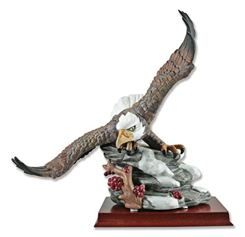 BANBERRY DESIGNS American Bald Eagle Hand crafted and Hand Painted Wildlife Porcelain Figurine