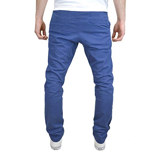 Blue Fit Stretch Tipo Slim Enzo Uomo Pantaloni Da Chino q48HS8