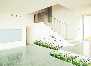 1 X Hotportgift Butterfly Grass Flower Wall Sticker Decor Decals Art  Sitting Room