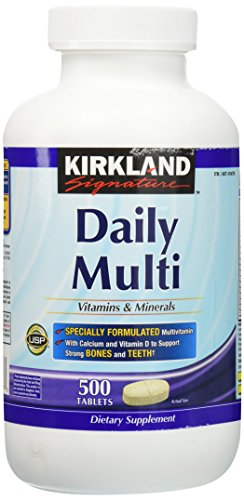 Kirkland Signature Daily Multi Vitamins & Minerals Tablets, 1000-Count Pack For Sale