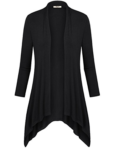 Women 3/4 Sleeve Knitted Cardigan Outwear Coat Sweater - 4