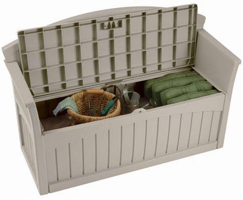 outdoor storage bench patio deck garden furniture box 50. Black Bedroom Furniture Sets. Home Design Ideas