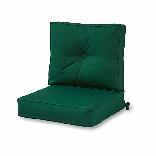 (Greendale Home Fashions Outdoor Sunbrella Deep Seat Chair Cushion Set, Forest )