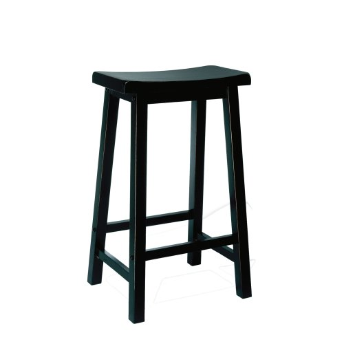 Powell's Furniture 502-431 Powell Antique Black with Sand Through Terra Cotta Bar Stool, 29