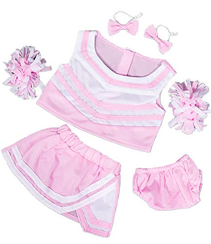 Stuffems Toy Shop Light Pink & White Cheerleader Uniform Teddy Bear Clothes Outfit Fits Most 14
