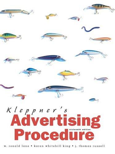 Kleppner's Advertising Procedure (16th Edition)
