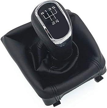 HZTWFC Caja de la cubierta de la bota de la palanca de cambios de la palanca de cambios manual de 6 velocidades