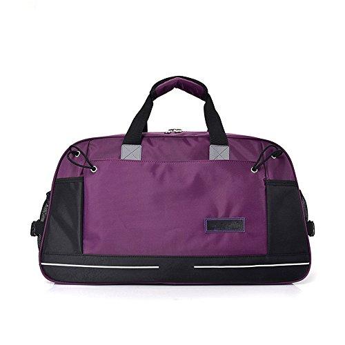 Gimitunus Bolso de Lona de Lona de Gran Tamaño de Viaje Durante la Noche Weekender Equipaje de Viaje para Hombres de Las Mujeres de Las Mujeres (Color : Negro) Púrpura