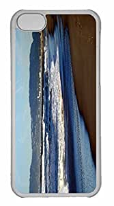 iPhone 5C Case, Personalized Custom Beach Nature 22 for iPhone 5C PC Clear Case
