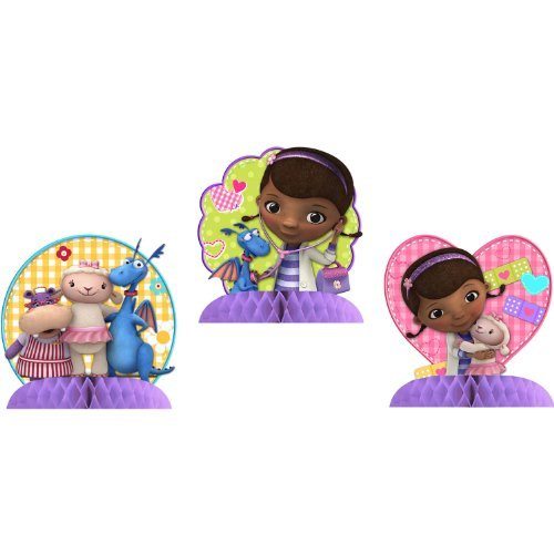 Doctor Mcstuffin Party Supplies (Doc McStuffins Centerpiece Decoration (3)