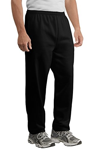 Midweight Sweatpants (Port & Company Men's Fleece Sweatpants with Pockets – Midweight PolyCotton – XL)