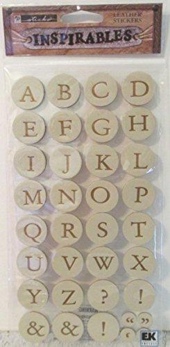 Inspirables Metallic Cream Leather Stickers ABC's