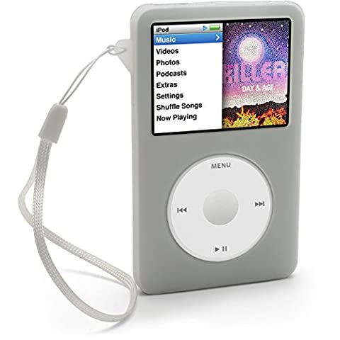 iGadgitz Clear Silicone Skin Case Cover for Apple iPod Classic 80GB, 120GB & Latest 6th (Ipod Classic Cover)