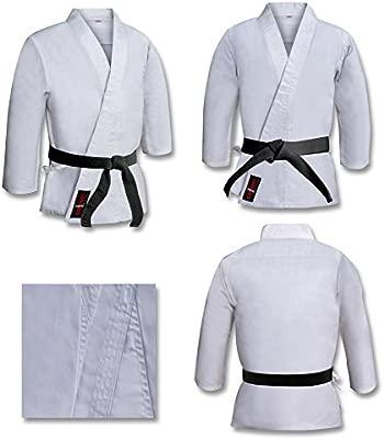 Vader Sports Adulto Traje De Karate Blanco Uniforme Poliéster/Algodón Gi Inc cinturón Gratis M/W Preencogido, kárate Blanco Kimono, Blanco Karate Gi, ...