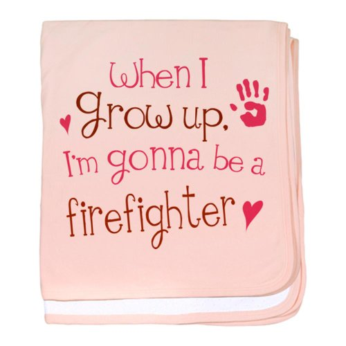 CafePress - Kids Future Firefighter baby blanket - Baby Blanket, Super Soft Newborn Swaddle