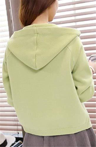 Moda Moda Moda Giacca Donna Eleganti Outerwear Chic Maglia Cappuccio Incappucciato Grau Cappotto Invernali A Con Slim Giaccone Autunno Vintage Casuale Cappotto Lunga Manica Puro Fit Ragazza Festivo Colore rXrwzq