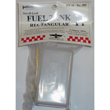 Sullivan Products RC Airplane Fuel Tank Rectangular, 11oz