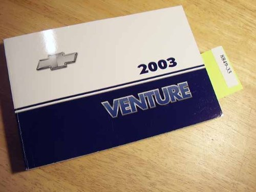 2003 Chevy Chevrolet Venture Owners Manual
