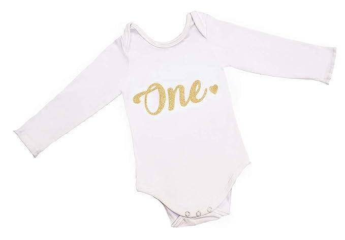 Amazon.com: Traje de manga larga para bebé y niña, diseño de ...