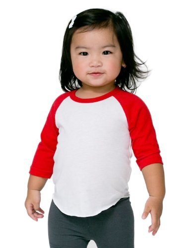 American Apparel Kids Infant Poly-Cotton 3/4 Sleeve Raglan Size 18-24 months