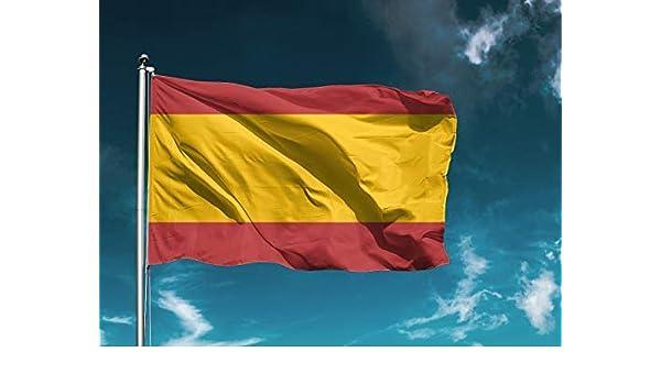 G | Bandera España Sin Escudo | Medidas 150cm x 85 cm | Fácil colocación | Decoración Exteriores (1 Unidad): Amazon.es: Hogar