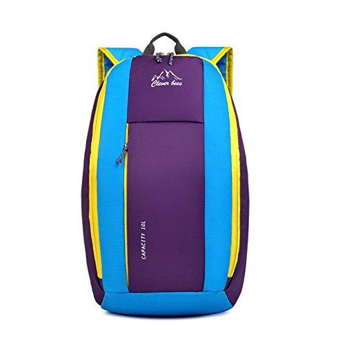 Ruanlei @Vintage CanvasRucksack/Outdoor Laptop-Rucksack/ReisenWandern/Rucksack mit großer KapazitätOutdoor Sport und Freizeit Reisetaschen, blaue Schultern. purple