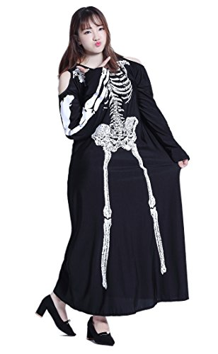 Halloween Cosplay Japan Costumes [Plus Size] Anime Big Uniforms (5X, Zombie Bones)