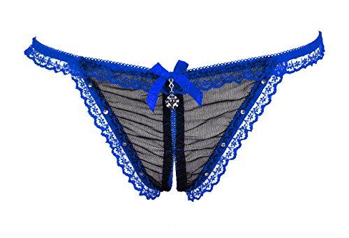 Culotte Femme Ouvrir le document sous-vêtements femme Sous-vêtements String Sexy dentelle scopie tempérament féminin et sous-vêtements T Low-Rise , appuyez sur le bouton rouge