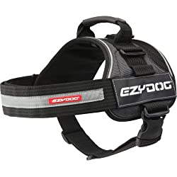 EzyDog Convert Trail-Ready Outdoor Adjustable Dog Harness - Perfect for Hiking, Walking, and Doubles as a Service Dog Vest - Superior Comfort Design with a Durable Traffic Handle (Medium, Charcoal)