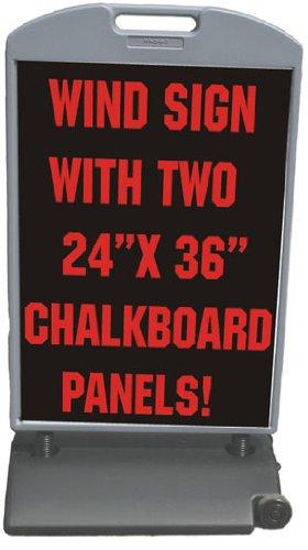 Chalkboard Panel 26x48 Sidewalk Curb Wind Sign II
