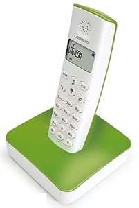 Logicom RIVAVERT RIVA POP 250 - Teléfono inalámbrico (pantalla LCD), color verde y blanco (importado)