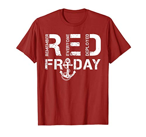 Red Friday Military shirts Support Navy Soldiers T-shirt T-Shirt