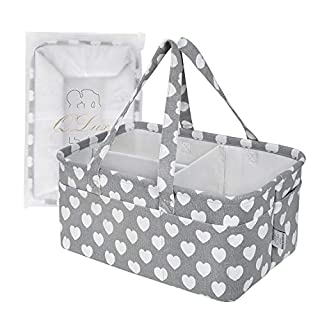 (QLux) Baby Diaper Caddy Organizer – Infant Shower Gift, Portable Travel Tote