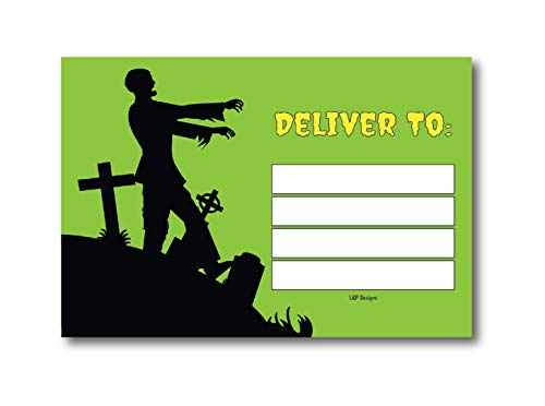 50 Green & Black Zombie Halloween Invitations Postcards for Girl, Boy, Women, and Men, Zombie Costume Party, Halloween Party Invitations, Party Decorations, Adults Birthday Halloween Party Invites