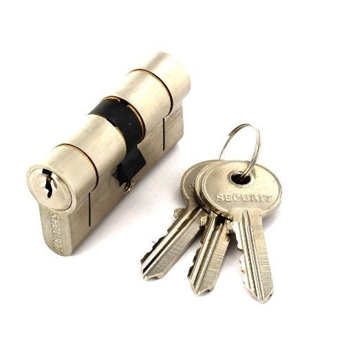 Securit Anti Snap / Bump / Drill / Pick Euro Cylinder Nickel Door Lock 40mm x 60mm S2083 by Securit