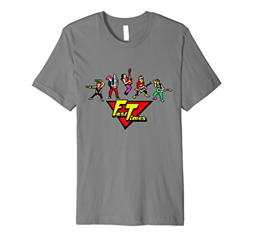 Fast Times Promo T-Shirt - 8 Bit Band with Logo