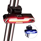 Bike Light, ThorFire Ultra Bright Bike Light USB Rechargeable Cycling Bicycle Tail Light Flashlight, Water Resistant 5Light Modes High Intensity Red/Blue LED Rear Bike Light for Road Bicycles, Helmets