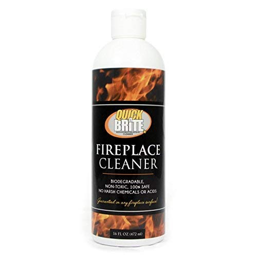 Quick N Brite Gel Kit with Scrub Brush 16oz Heavy Duty, Cleans Fireplace Brick, Stone, Tile, Rock, Removes Soot, Smoke, Creosote and Ash, No Acids, No Harsh Chemicals (4-(Pack)) by Quick N Brite (Image #1)