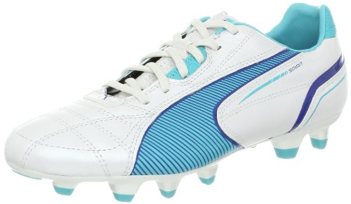 PUMA Women's Spirit FG Soccer Cleat,Metallic White/Blue Curacao,9 B US by PUMA