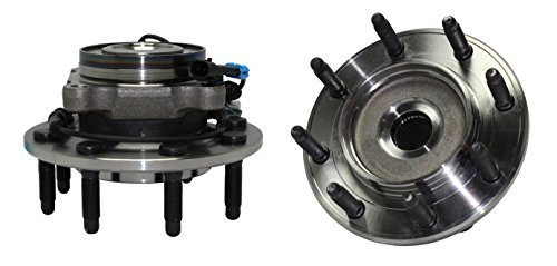 Detroit Axle - Front Wheel Hub and Bearing Assembly Pair - 8 Bolt W/ABS 515098 x2 Not For Classic Body - 2007-2010 Silverado/Sierra 2500HD - [07-09 Silverado/Sierra 3500]