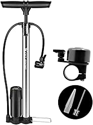 Bike Floor Pump with Gauge, High Pressure 160 PSI, NIUAWASA Bicycle Pump Compatible with Presta & Schrader