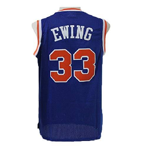 - Men's Ewing Jerseys Basketball Athletics Jerseys Retro Jersey 33 Blue (L)