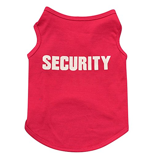 Trenton SECURITY Dog Tee Shirt Clothes for Pet Puppy T-Shirts Dogs Costumes Tank Top Vest