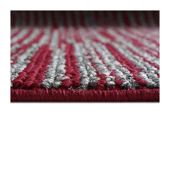 iCustomRug Fashion Loop Area Rug Runner Kitchen Entry Living Bedroon Hallway Washable Anti-Skid & Stain Resistant 2' X 6' Red Runner -  - runner-rugs, entryway-furniture-decor, entryway-laundry-room - 41N9Fyd7y5L. SS570  -